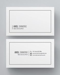 Clean multipurpose business card template