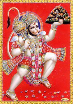Lord Hanuman Carrying Sanjivani Mountain
