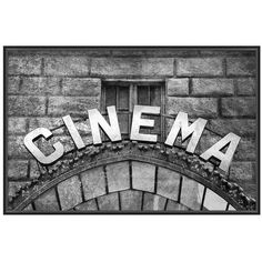 Pottery Barn Vintage Movie Framed Print ($199) ❤ liked on Polyvore featuring home, home decor, wall art, black and white home decor, photo wall art, pottery barn, black home decor and vintage wall art