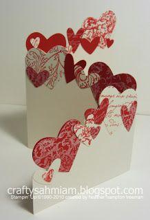 crafty sahm i am: Trifold Punched Hearts Card http://craftysahmiam.blogspot.com/2011/02/trifold-punched-hearts-card.html