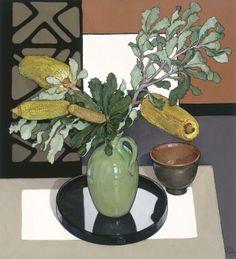 Criss Canning — Yellow Banksia Australian Wildflowers, Artist Sketchbook, Still Life Art, Fruit Art, Australian Artists, Botanical Art, Art Images, Flower Art, Canning