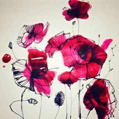 ORGANIC - POPPY #poppy #coquelicotattoo #flowers Illustrations, Poppy, Rooster, Sketches, Organic, Drawings, Flowers, Animals, Animales
