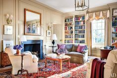 The library of Washington D.C.'s oldest home, The Lindens
