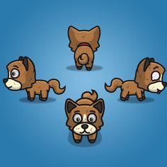 4 Directional Brown Dog