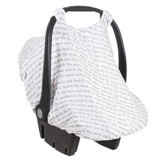 NEW- Spring Collection! Car Seat Cover in Love print- by Bebe au Lait
