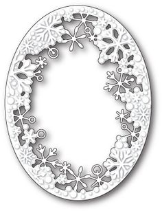 Memory Box Dancing Snowflake Oval Craft Die