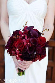 deep red and purple bridal bouquet #weddings #weddingflowers #weddingideas #wedding #himisspuff #bouquets #flowers