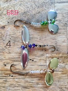Double spinners and Swarovski crystal to make a Dragon Fly.... here is hoping my creation catches fish. Brenda Ritchie-Brennan