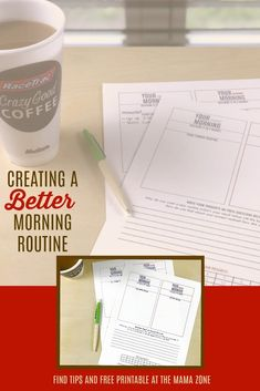 Trying to create a better morning routine? Download this free printable