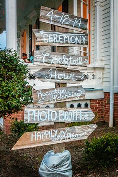 Wedding Directional Sign - Merrimon Wynne House - Ashley McCray Photography - NC Wedding Planner - Orangerie Events