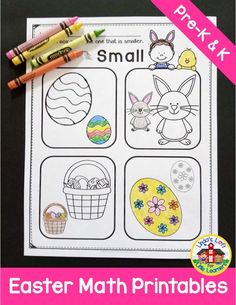 Easter Math Preschool Printables reinforce numbers and counting 1-10, math concepts such as same/different, taller/shorter, more/less, empty/full, and patterning (AB). Use these Easter math worksheets at your math center, for morning work, or extra practice. #preschooleastermathideas #eastermathactivities #preschooleastermathworksheets Easter Activities For Preschool, Preschool Printables, Preschool Math, Learning Activities, Activity Centers, Math Centers, Early Math, Math Concepts, Little Learners