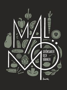 malmö by jorge lawerta, via behance Typography Logo, Graphic Design Typography, Graphic Design Illustration, Branding Design, Typographic Poster, Graphic Design Layouts, Layout Design, Print Design, Behance Illustration