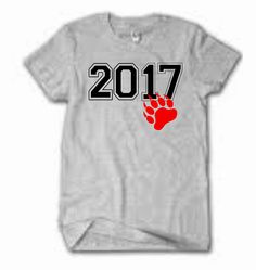 Class of 2017 T shirtSenior graduation by ElainesCrafts on Etsy
