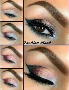 Smokey eyes are trendy makeup style now a days for parties.girls love to make smokey eyes. smokey eyes makeup apply in different colors according to dress Beautiful Eye Makeup, Cute Makeup, Pretty Makeup, Makeup Looks, Perfect Makeup, Awesome Makeup, Beautiful Eyes, Prom Makeup, Casual Makeup