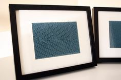 What to do with that knitting project you never finished!  Frame it and turn it into ART!  BRILLIANT! (from http://sewwrong.blogspot.com)