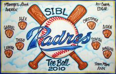 Baseball Banner - Padres - Airbrush