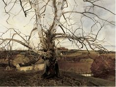 andrew wyeth - pennsylvania landscape, watercolor