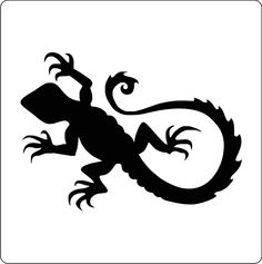 Stencil-Cake-Decoration-Airbrush-Tattoos-Body-Painting-Scrapbooking-Lizard-A10