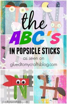 Use these fun Popsicle Stick projects to practice beginning sounds with beginning readers! These are fun projects that can be used in centers or with a whole group!  Great for preschool and kindergarten. #prek #kindergarten #beginningsound #Popsiclestickart #literacycenterideas