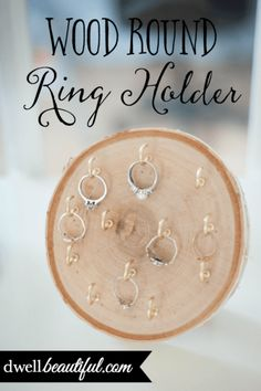 Make a DIY wood round ring holder to be a catch-all for all your beautiful rings! Never misplace or forget about rings again with this rustic farmhouse decor piece!
