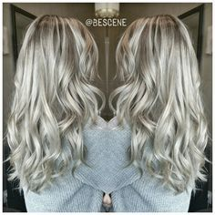 """""""ROOTY PEARL⚪ASH BLONDE! By far one of my favorite shades of blonde ! I balayage using @Schwarzkopfusa #Blondme and tone using #Schwarzkopf Igora Royal!…"""""""