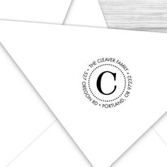 Custom round address stamp with your by tickledpinkpaperink