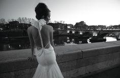 Vestido de novia con espalda descubierta Inbal Dror