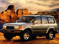 """Toyota Land Cruiser 80 """"40th Anniversary"""" (1997). Brought both of our girls home from the hospital with this exact model."""
