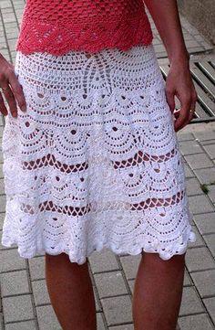 Galería: Regias Faldas a Crochet | CTejidas [Crochet y Dos Agujas]