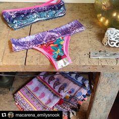 Santa Braguita y a ponerte morenita! ☀️😎👙🌴 #Repost @macarena_emilysnook ・・・ Otro estampado de los nuevos bikinis ❤❤😍😍 Con la nueva temporada de fulares🌷🌹🌻🌸 Debajo banco de carpintero!! www.emilysnook.com C / Ramón y Cajal 5 #sansebastian #donostia...