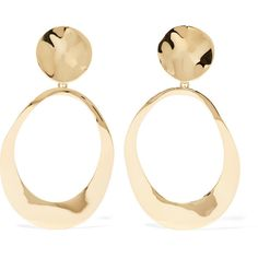 Ippolita Dess Hammered 18 Karat Gold Earrings 3 500 Liked On Polyvore Featuring