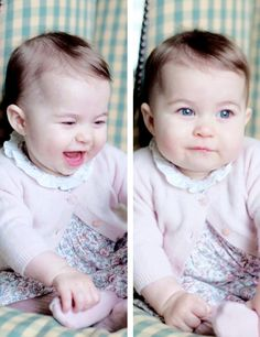 Princess Charlotte of Cambridge at 6 months old, November 2015, taken by the Duchess of Cambridge ♕