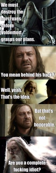 Dumbledore outlived Ned Stark by 6 books. Just sayin'.  My inner nerd loves this.