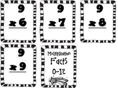 Multiplication flash cards (free)
