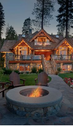 Rustic home on Lake Tahoe. i could easily picture this as a ski cabin