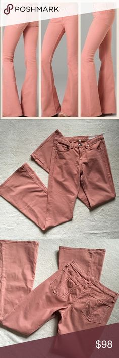 "Rag & Bone High Rise Bell Jeans Rag & Bone High Rise Bell Jeans Salmon colored. Great condition, hardly any signs of wear.  Size 29  Inseam 33"" Jeans Flare & Wide Leg"