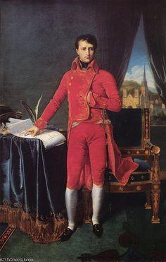 Bonaparte Premier Consul de Jean Auguste Dominique Ingres (1780-1867, France)