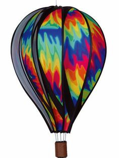 big pictures of hot air balloons | ltiedye22 Large Tie Dye Spinning Hot Air Balloon