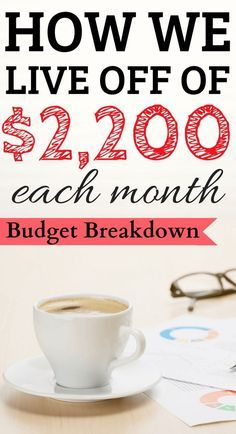 Here's what goes into our budget and how we live off of $2,200 month! Budget | Money Saving Tips | Save Money | Dave Ramsey | Debt Snowball