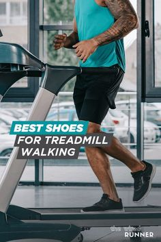 Walking on the treadmill is an excellent fitness option. It's convenient, can be done in all weather or conditions, and you can increase the speed or incline to simulate real-world walking. Even if you opt for the treadmill rather than on the road, it's important to consider the type of shoes you're wearing. Best Running Shoes, Running Gear, Marathon Running, Fitness Tracker, Walk On, Workout Gear, Treadmill, Gym Equipment, Active Wear
