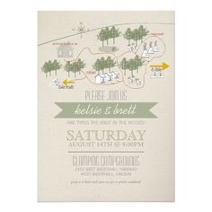 Campground Map / Camping Wedding Invite (minus the typo ;) cute idea nonetheless
