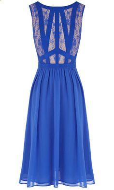 Oasis Blue Lace Dress