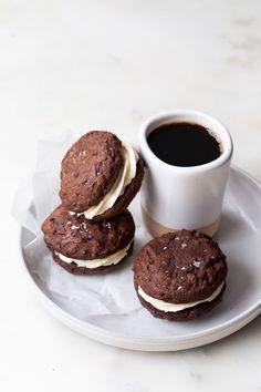 Baileys Chocolate Brownie Truffle Sandwich Cookies