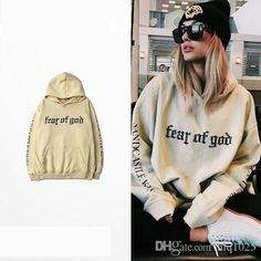 Wholeslae New Autumn Justin Bieber Fear Of God hoodies Cotton Women jumper pullover Sweatshirts free shipping