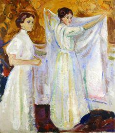 Edvard Munch ~ Two Nurses, 1909
