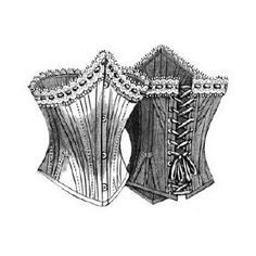 The get the chamber maid and two young boys to synch her down tight! Corset  1893 Lady's Low Corset Pattern