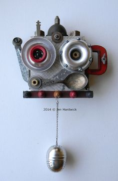 Recycled Art Assemblage  T.E.A.P.O.T. Bot  Original by redhardwick, $95.00