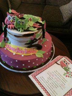 Trifles' Owl Baby Shower Cake