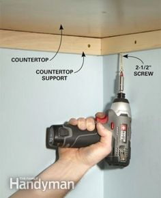 This shows how to support countertop.