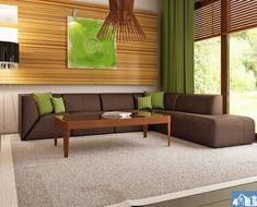 Proiect-de-casa-mica-Parter-64011-3 Sofa, Couch, Good House, House Plans, Interior Design, Furniture, Living, Home Decor, Houses
